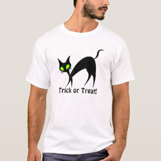 Trick or Treat halloween black cat design! T-Shirt