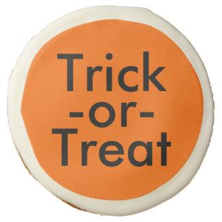 Trick-or-Treat Halloween Black on Orange Cookies