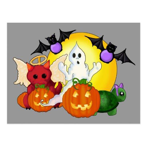 """Trick or Treat"" Halloween (Blank) Postcard"