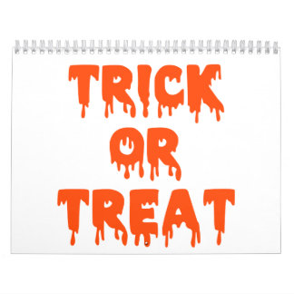 Trick or treat halloween calendar
