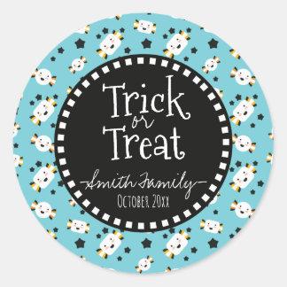 Trick Or Treat. Halloween Candies. Classic Round Sticker