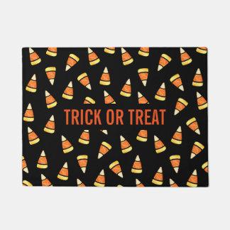 Trick or Treat Halloween Candy Corn Print Doormat