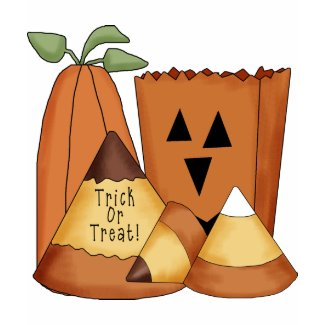 Trick or Treat Halloween Candy Corn, Pumpkin Tees shirt