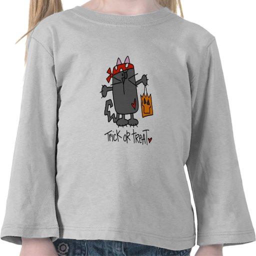 Trick Or Treat Halloween Cat Toddler T-Shirt