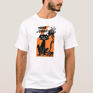 Trick or Treat Halloween Cats Vintage Shirt
