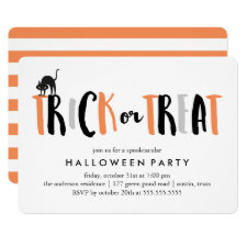 Trick or Treat Halloween Celebration Invitation