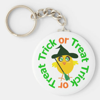 Trick or Treat Halloween Chick Keychains