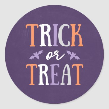 Halloween Themed Trick or Treat   Halloween Classic Round Sticker