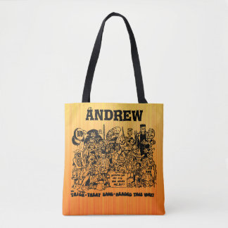 Trick or Treat Halloween Costumes Personalized Tote Bag