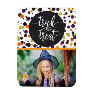 Trick or Treat Halloween Custom Personalized Photo Magnet