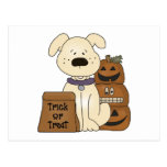 Trick Or Treat Halloween Dog Postcard