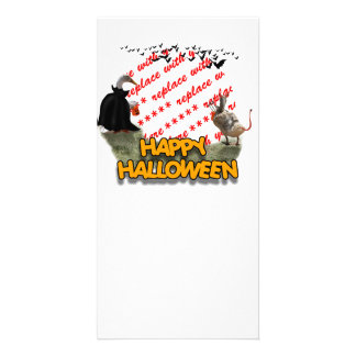 Trick or Treat Halloween Ducks Photo Frame Picture Card