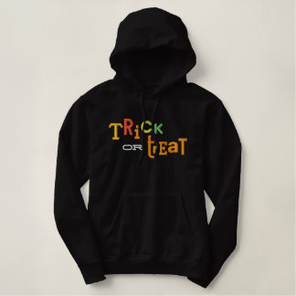 TRICK OR TREAT Halloween Embroidery Hoodie