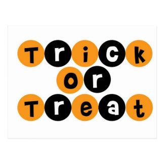 Trick or Treat Halloween Fun Postcard