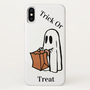 Halloween Themed Trick or Treat Halloween Ghost iPhone X Case