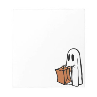 Trick or Treat Halloween Ghost Note Pad