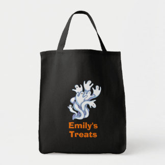 Trick or Treat Halloween Ghosts Flying Around Tote Bag
