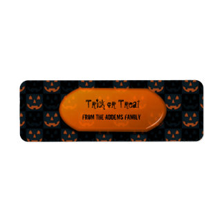 Trick or Treat  Halloween Gift Bag Return Address Label