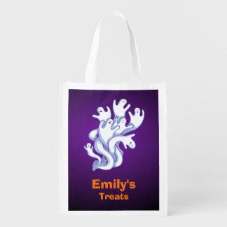 Trick or Treat Halloween Halloween Ghosts Flying Grocery Bag