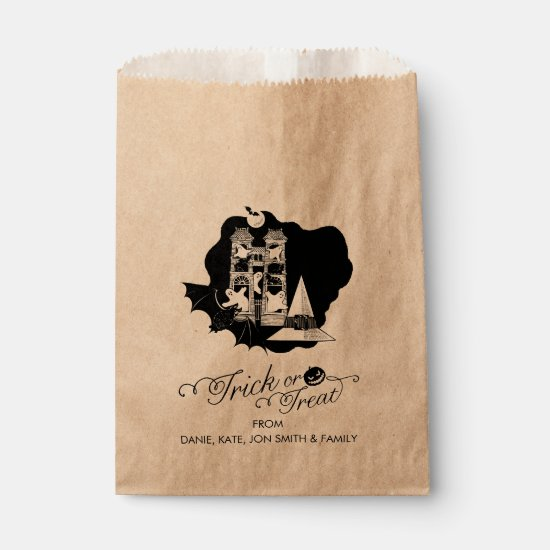 Trick or Treat Halloween Haunted House Favor Bag