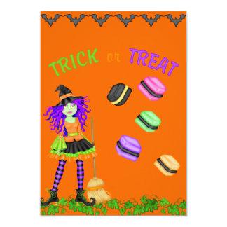 "Trick Or Treat Halloween Invitation 5"" X 7"" Invitation Card"