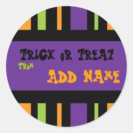 Trick or Treat Halloween Label