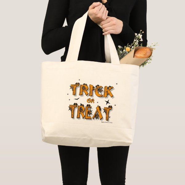 Trick-or-Treat! | Halloween Large Tote Bag