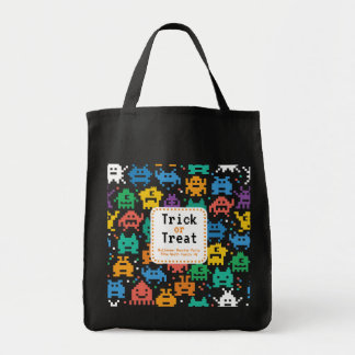 Trick or Treat Halloween Monster Party Tote Bag