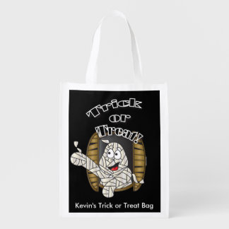 Trick or Treat Halloween Mummy Grocery Bags