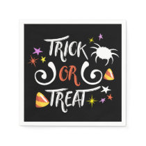 trick or treat halloween napkin