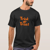 Trick or Treat Halloween Orange Brush Stroke T-Shirt