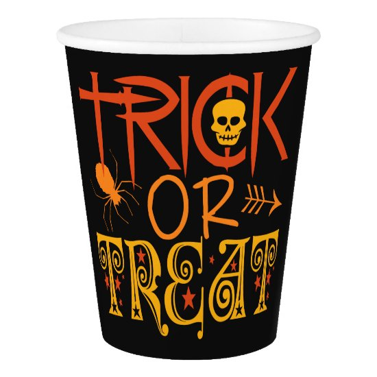 Trick or Treat Halloween paper cups