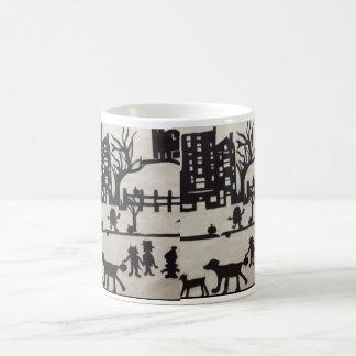 Trick-or-Treat Halloween Paper Cutting Coffee Mug