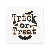 trick or treat halloween paper napkin