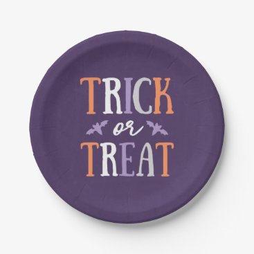 Halloween Themed Trick or Treat   Halloween Paper Plate