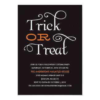 "TRICK OR TREAT | HALLOWEEN PARTY INVITATION 5"" X 7"" INVITATION CARD"