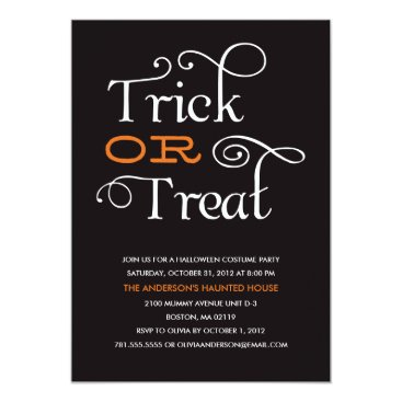 FINEandDANDY TRICK OR TREAT | HALLOWEEN PARTY INVITATION