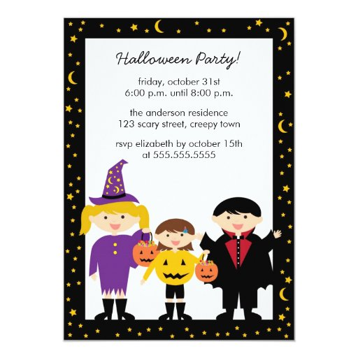 Trick or Treat Halloween Party Invitations