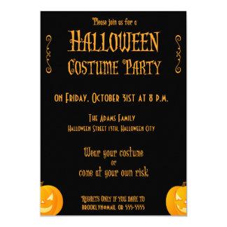 Trick Or Treat Halloween Party Invitations Pumpkin