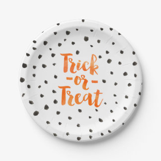 Trick Or Treat Halloween Party Paper Plates 7 Inch Paper Plate