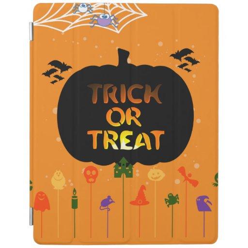 Trick Or Treat, Halloween Party, Pumpkin iPad Smart Cover