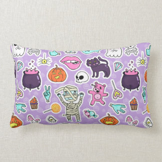 Trick or Treat Halloween Patterns Lumbar Pillow
