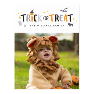Trick or Treat Halloween Photo Card