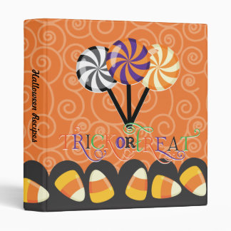 Trick or Treat Halloween Photos or Recipes Binder