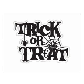 Trick Or Treat Halloween Postcard