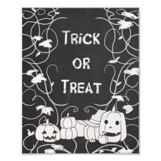 Trick or Treat Halloween Pumpkin Patch Chalkboard Photo