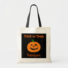 Trick Or Treat Halloween Pumpkin Treat Bag at Zazzle