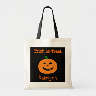 Trick or Treat Halloween Pumpkin Treat Bag