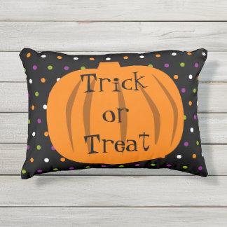 Trick or Treat Halloween Pumpkins Outdoor Pillow
