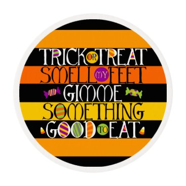 creativetaylor Trick or Treat Halloween Rhyme Edible Frosting Rounds